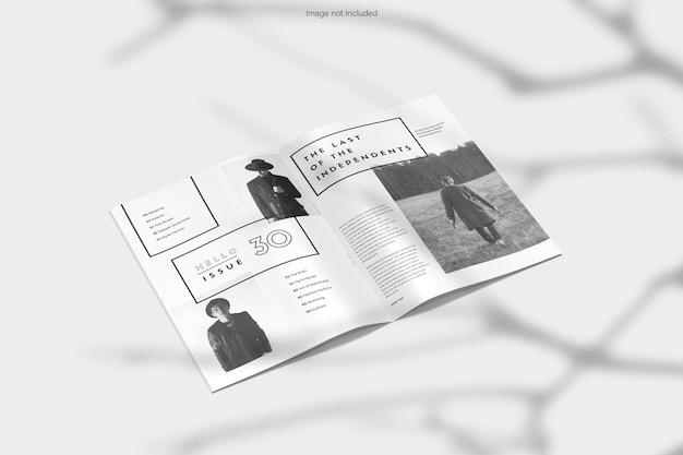 雑誌のモックアップ デザインのレンダリング