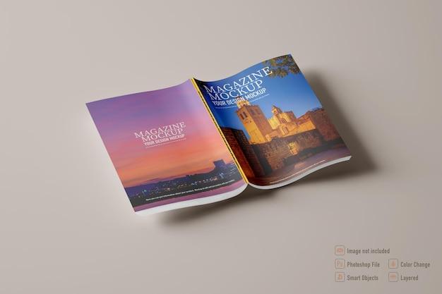 Изолированный макет журнала