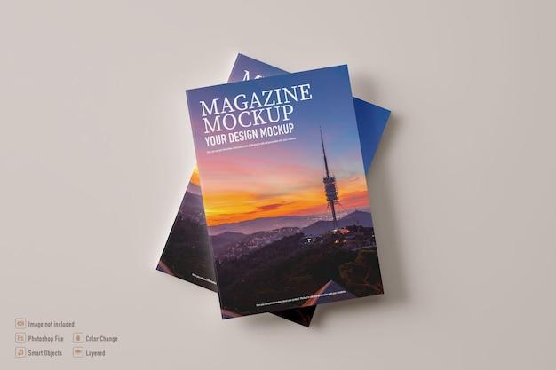 Magazine mockup isolated