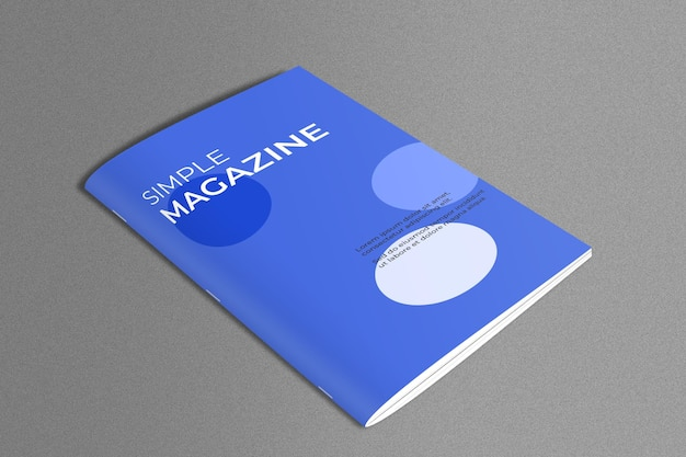 Magazine mockup in marble surface