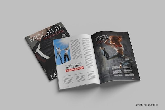 Magazine mockup rendering designs rendering design
