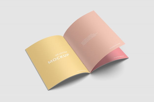 Magazine mockup template 3 smart object features