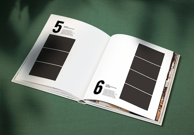空白の雑誌のモックアップ