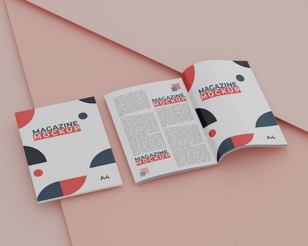 Макет журнала с простой концепцией