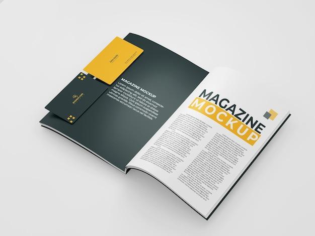 Макет журнала с визитной карточкой