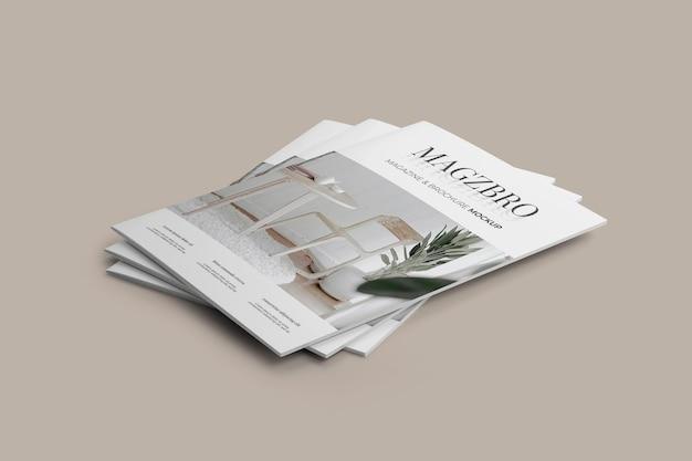 잡지 목업 프리미엄 PSD 파일