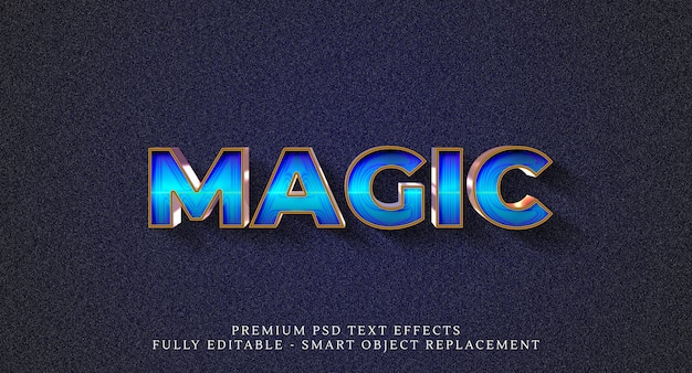 魔法風効果、テキスト効果