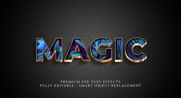 Magic text style effect psd , psd text effects