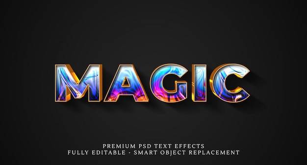 Magic text style effect psd