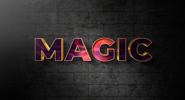 Magic text style effect template