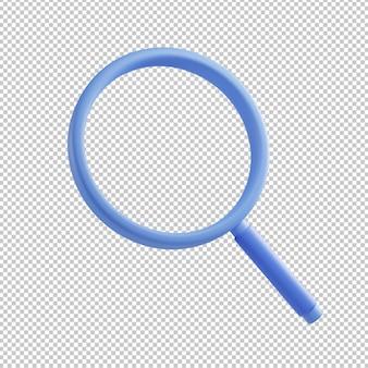 Лупа 3d иллюстрация