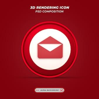 Значок почты в 3d-рендеринге