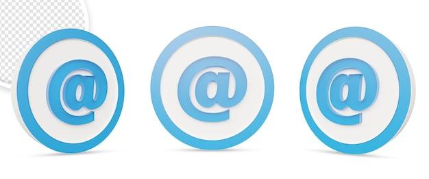 Символ значок почты изолированные