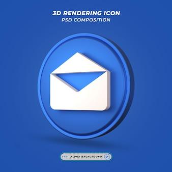 Значок mail messege в 3d-рендеринге