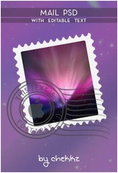 Mail psd editable text xd