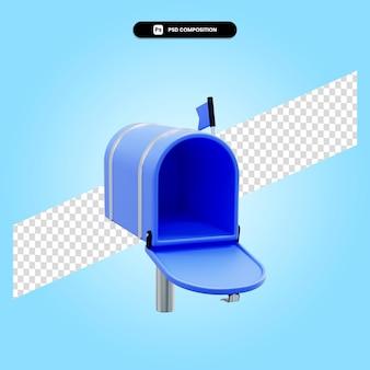 Почтовый ящик 3d визуализации изолированных иллюстрация