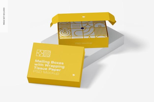 Почтовые ящики с макетом оберточной салфетки