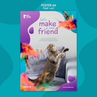 Make a new fluffy friend poster template