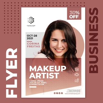 Make up artist business flyer template