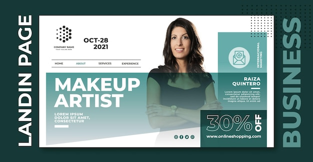 Make up artist landing page template