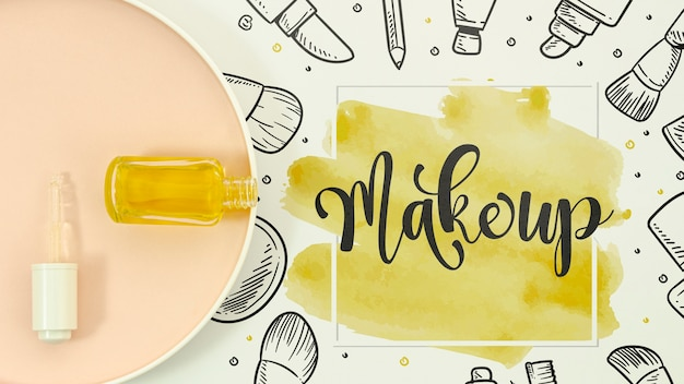 Make up background in  watercolor style