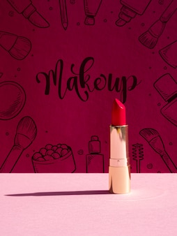 Make up background with lipstick