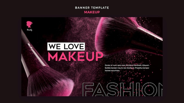Make up banner template concept