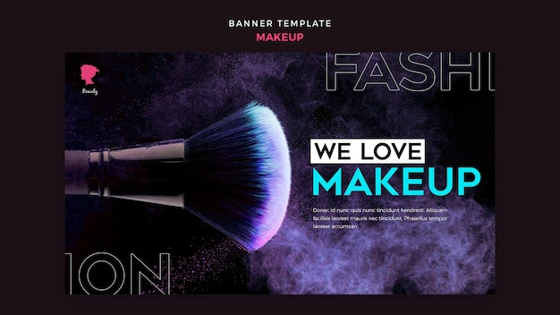 Make up banner template design