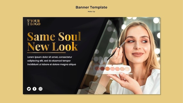 Make up banner template theme
