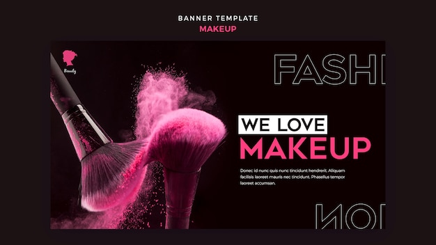 Make up banner template