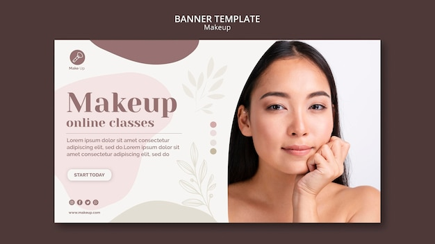 Make-up concept banner template