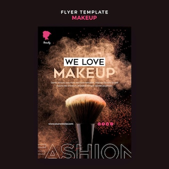Make up flyer template theme
