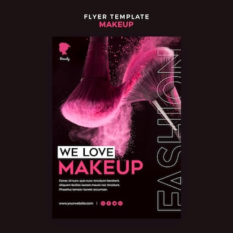 Make up flyer template