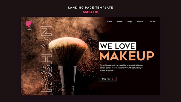 Make up landing page design