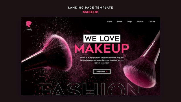 Make up landing page theme