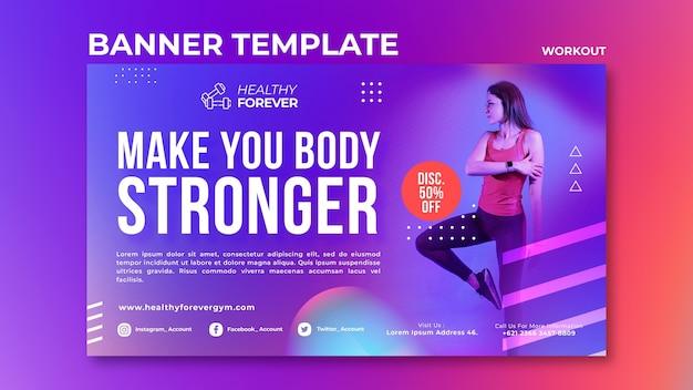 Rendi il tuo corpo più forte modello di banner