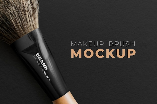 化粧品ブランドのメイクブラシモックアップpsd