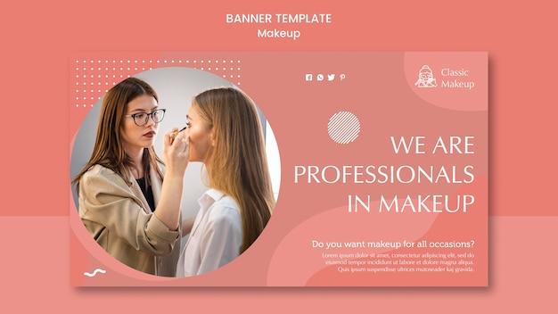 Makeup concept banner template