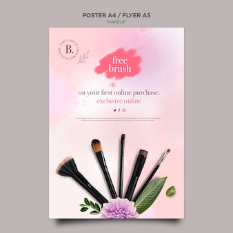 Makeup concept flyer template design