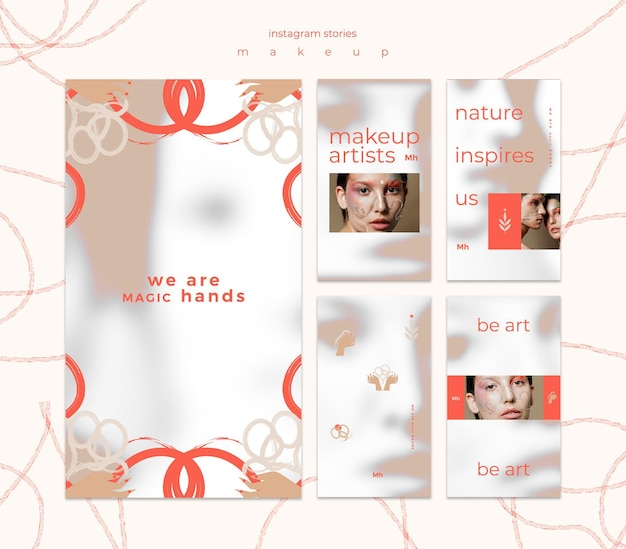Makeup concept instagram stories template