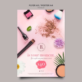 Makeup concept poster template design