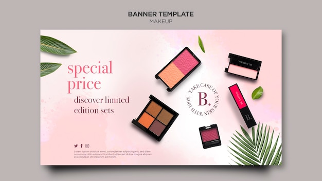 Makeup horizontal banner template style