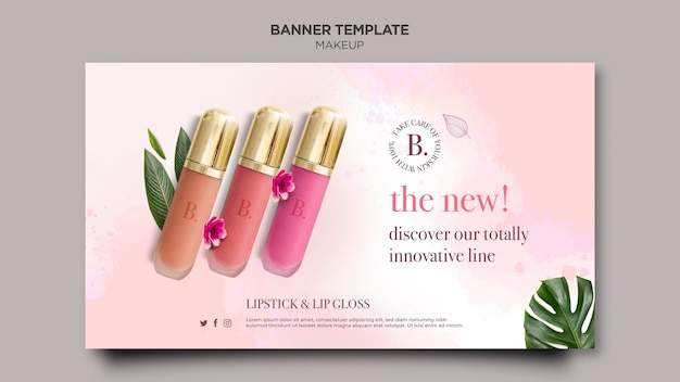 Makeup horizontal banner template