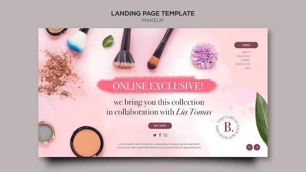 Makeup landing page template design