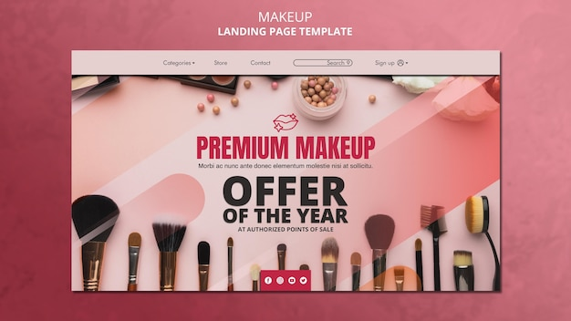 Шаблон целевой страницы макияжа