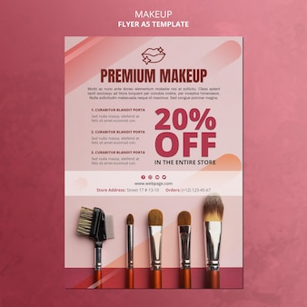 Makeup offer flyer template