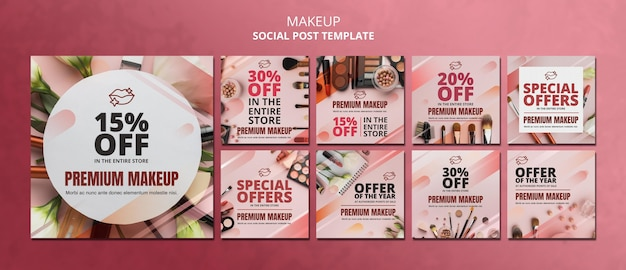 Makeup offer social media post template