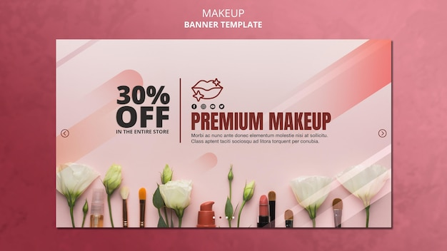 Makeup special offer banner template