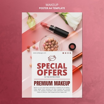 Makeup special offer poster template