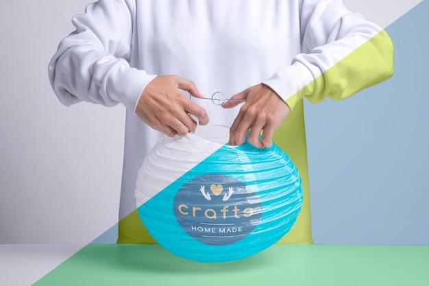 紙ランプのコンセプトを作る